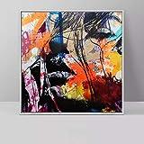 hetingyue Imprimir Pintura al óleo Moderna Pintura al óleo Abstracta decoración de la Pared Color Retrato Pintura Pintor Pintura sin Marco 70X70 CM