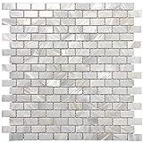 Art3d 6-Pack Mother of Pearl Shell Mosaic Tile for Kitchen Backsplashes/Bathroom Tile, White Subway...