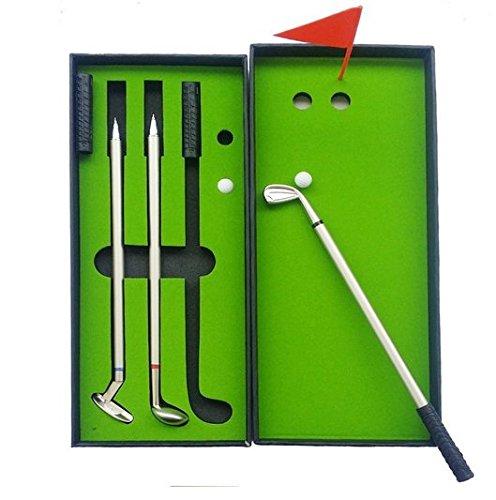 Crestgolf 3-teiliges Stifteset im Golfspiel-Design, Geschenkset für Golfclubs