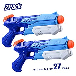 in budget affordable HITOP Water Gun for Kids, 2 Pack Super Squat Gun Water Saw Car Blaster 300CC Toy Gift…