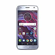 Moto X (4th Generation) with Alexa Hands-Free – 32 GB - Unlocked – Sterling Blue - Prime Exclusive Screen Display