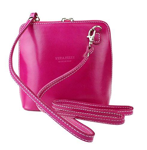 Girly Handbags - Bolso al hombro de Material Sintético para mujer Rosa fucsia
