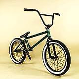 MIAOYO Bicicleta BMX para Adultos De 20 Pulgadas, Marco De Acero CRMO 4130, Llanta De Aleación De Aluminio De Doble Capa, Crancetes De Aleación De Aluminio, para Principiantes A Nivel Avanzado,b