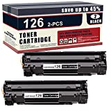 2 Pack(Black) 126 Compatible Toner Cartridge Replacement for Canon ImageClass...