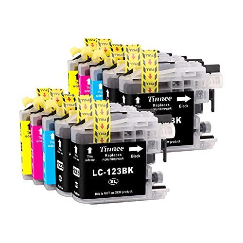 Tinnee - 10 cartuchos de tinta LC123, recambio para Brother LC123 LC123XL cartuchos de repuesto, compatibles con MFC-J4410DW MFC-J6920DW DCP-J4110DW MFC-J6720DW DCP-J552DW MFC-J6520DW