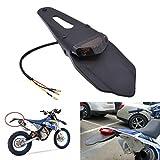 KaTur Schutzblech mit rotem LED-Bremslicht, für hinten, mit Halterung, für Offroad-Motorräder,...