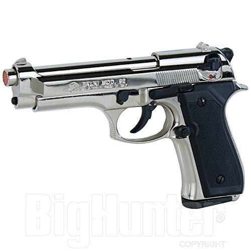 Bruni Pistola Giocattolo a Salve semiautomatical 92/98 nikel Calibro 9mm scacciacani