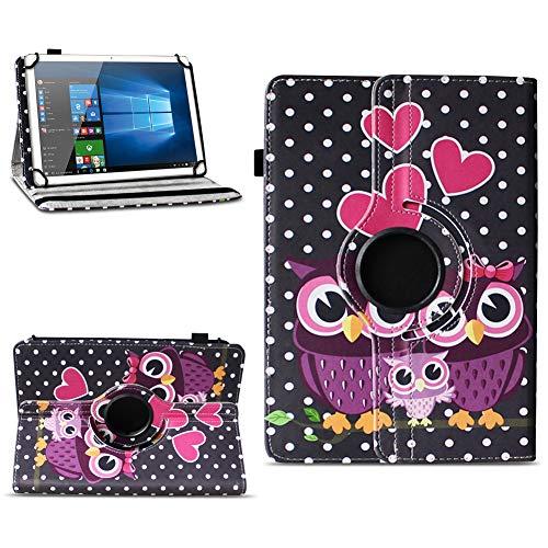 NAmobile Tablet Hülle kompatibel für TrekStor Surftab Breeze 10.1 Quad Tasche Schutzhülle Cover Drehbar Universal Hülle, Farben:Motiv 4