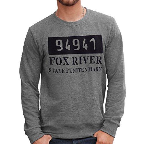 MUSH Sweatshirt Prison Break Fox River 94941 - Film by Dress Your Style - Herren-S-Grau