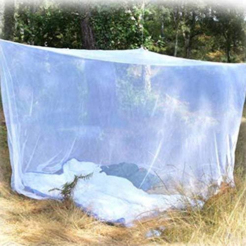 Piner Outdoor Camping Klamboe Dubbel Campingbed Compact en lichtgewicht Vierkant Outdoornet voor kamperen Vissen wandelen, wit