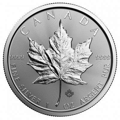 Silbermünze Maple Leaf 2021, 1 Unze incl. Münzkapsel, Differenzbesteuert nach § 25a UstG