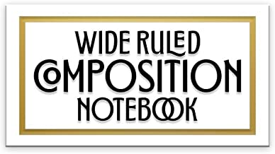 Wide Ruled Composition Notebook: Who says notebooks have to be boring? This pure white blank wide ruled book with table of contents is ready for your ... school. (Pretty Trendy 8x10 Composition Book)