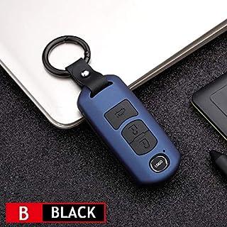 2019 New Carbon fiber ABS Car Key Holder Trim Protecter Cover For Mazda 3 CX-3 CX-5 2016-2018 Car Key Case Shell (E)