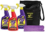 Wizards - Motorcycle Quick Kit Cleaner, Detailer, and Bug Remover with Fiber Cloth and Bag