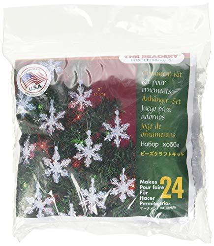 Beadery Holiday Beaded Ornament Kit Mini Snowflakes 2-inch Makes 24