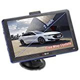 7 Inch Navigation Systems for Car/Truck, Xgody 8GB 256MB GPS Navigation for Car, Capacitive Touch Screen Pre-Loaded US/CA/MX Maps, Camera Alerts, Lifetime Free Map Updates (2019 Upgraded Version)