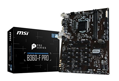 MSI B360-F Pro - Placa Base Pro Series (LGA 1151, 1 x PCI-E 3.0 x16, HDMI, DVI-D, Mining Management, 4 x USB 3.1, 6 x USB 2.0)