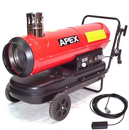 Indirekt Ölheizer Heizkanone 55216 Bauheizer 30kW mit externen Thermostat Heizer AWZ