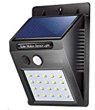 [SOLAR LED SENSOR LIGHT WITH A LARGER SENSOR] :- Sensing range of 10 feet with a 120 degree sensing angle.IP65 waterproof and heatproof, solar powered lights, suitable for most kinds of weathers. [AUTOMATIC MOTION SENSOR SOLAR LED DECK LIGHT FOR SECU...