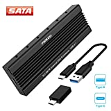 FIDECO USB 3.1 Gen 2 10Gbps to M.2 NGFF SATA SSD Enclosure Adapter