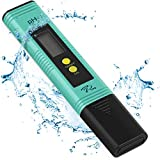 PH Meter with Automatic Calibration - 7Pros High Accuracy Pen Type Water Quality Tester with built-in ATC, 6 pH Calibration Packets, Best Tool to test PH of Hydroponics, Kombucha, Wine, Drinking Water