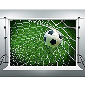 VVM 7x5ft Football Backdrop Soccer Pitch Photography Background for Pictures Outdoor Sports YouTube Backdrop GYVV177