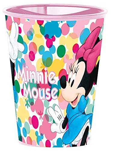 Little Flight Minnie - Taza escolar con diseño de Minnie Mouse, vaso de plástico rígido (1 vaso de plástico rígido)