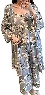 【在庫処分セール】[ニーマンバイ] 花柄 ルームウェア 3点セット 抜け感 部屋着 パジャマ キャミソール レディース M~XL