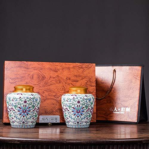 Ksnrang Keramik-Teedosen, emaillierte kandierte Obstdosen, allgemeine Aufbewahrungsdosen, Sammlung hochwertiger Geschenksets, Private Anpassung-Elegantes Weiß-Set