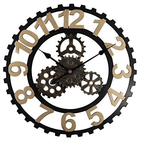 LUOYLYM Reloj De Pared De Engranaje Retro Americano Reloj De Pared De Viento Industrial Sala De Estar Comedor Decoración Reloj De Pared Creativo Reloj
