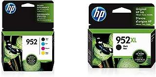 $146 » HP 952 | 4 Ink Cartridges | Black, Cyan, Magenta, Yellow | F6U15AN, L0S49AN, L0S52AN, L0S55AN & 952XL | Ink Cartridge | Black | F6U19AN