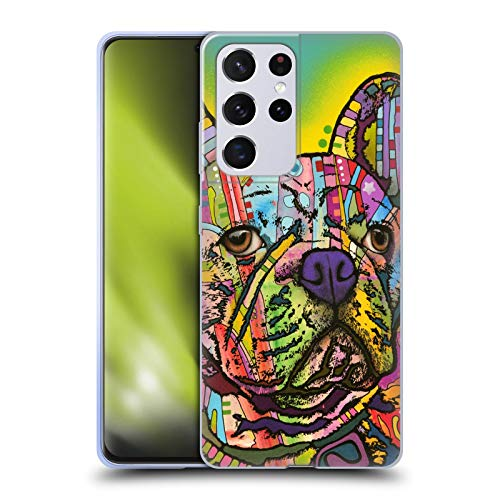 Head Case Designs Officially Licensed Dean Russo French Bulldog Dogs Soft Gel Case Compatible with Samsung Galaxy S21 Ultra 5G