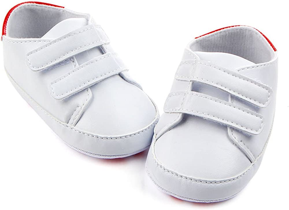 Baby Boy Girl Soft Sole PU Leather Sneakers Mingfa Newborn Infant Toddler First Walking Shoes Casual Shoes for 0-12 Months