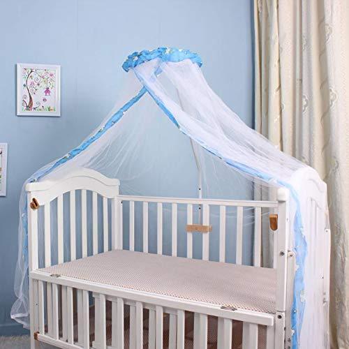 Insektenschutz Fenster Babybett Mückennetz Kinderbett Universal Moskitonetz Baby Mosquito Nets für Zuhause Himmelbett Stubenwagen Laufstall Kleinkind Bett Himmelbett mit Schnalle