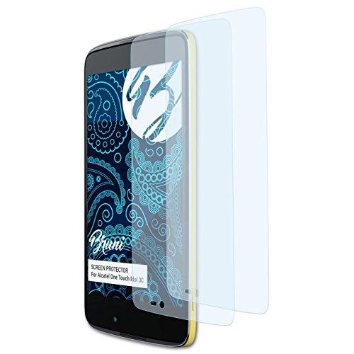 Bruni Schutzfolie kompatibel mit Alcatel One Touch Idol 3C Folie, glasklare Bildschirmschutzfolie (2X)
