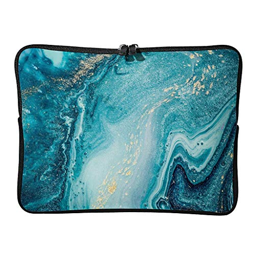 5 Sizes Marble Texture Ink Laptop Bags Premium Waterproof Abstract Art Laptop Briefcase Suitable for Commuter