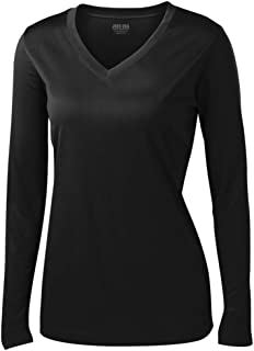 Joe's USA - Ladies Long Sleeve Moisture Wicking Athletic Shirts Sizes XS-4XL