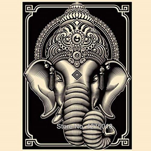 HGlSG DIY Malen nach Zahlen Ganesha indischer Gott Buddha DIY malen nach Zahlen Kinder Mit Pinsel und Acrylfarbe nach Zahlen malen für Erwachsene Gemälde für Wohnzimm40X60cm(Kein Rahmen)