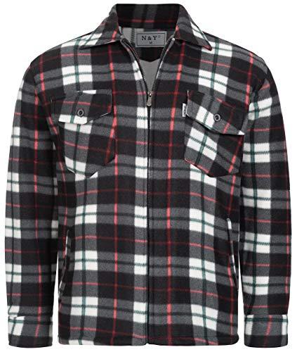 Fashion Herren Thermohemd Jacke ID472, Größe:3XL;Farbe:Grau