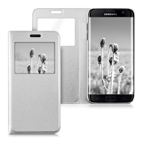 kwmobile Funda para Samsung Galaxy S7 edge - Flip cover Case para móvil en...