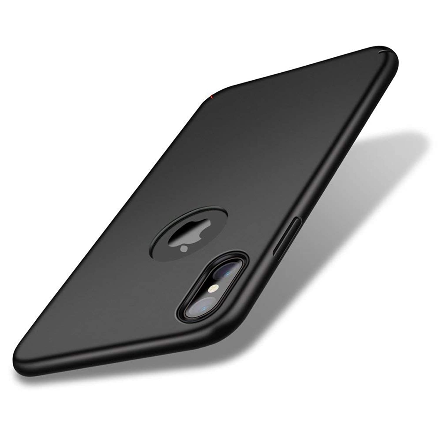 VIVICOM for iPhone X Ultra Slim Fit iPhone X case, Hard Plastic Full Protective Anti-Scratch Cover Ultra Thin Case Compatible with iPhone X - Black
