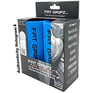 """Fat Gripz – The Simple Proven Way to Get Big Biceps & Forearms Fast (Winner of The Men's Health Magazine Home Gym Award 2020) (2.25"""" Outer Diameter) (Fat Grips)"""
