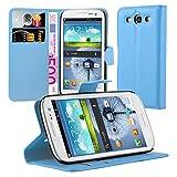 Cadorabo Funda Libro para Samsung Galaxy S3 / S3 Neo en Azul Pastel - Cubierta Proteccíon con Cierre Magnético, Tarjetero y Función de Suporte - Etui Case Cover Carcasa