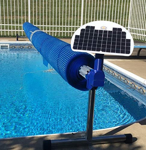 Automatic Solar Blanket Cover Reel/Roller - Remote Controlled, Solar Battery Powered, Motorized Units for up to 20x40' Rectangular in-ground Swimming Pools