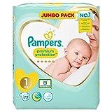 Pampers Premium Protection Lot de 72 couches pour bébé Taille 1