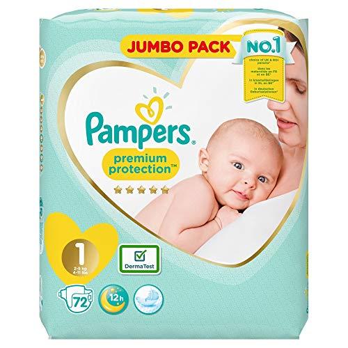 Pampers Premium Protection New Baby Windeln, Jumbo-Pack, Größe 1, 72 Stück