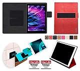 Hülle für Medion Lifetab X10311 Tasche Cover Case Bumper | in Rot Leder | Testsieger