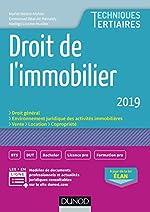 Droit de l'immobilier 2019 (2019) de Muriel Mestre Mahler