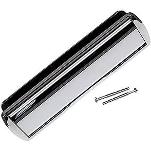"""12"""" Satin Chrome Omega Letterplate Premium Heavy Duty Sprung Letter box UPVC Wood Door"""