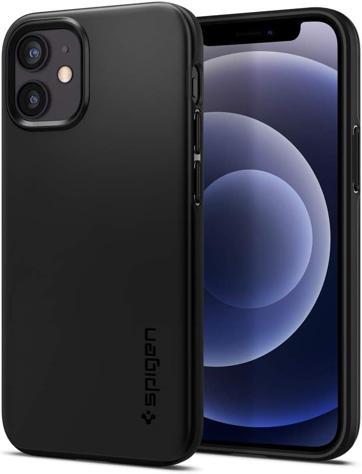 Spigen Thin Fit Designed for iPhone 12 Mini Case (2020) - Black